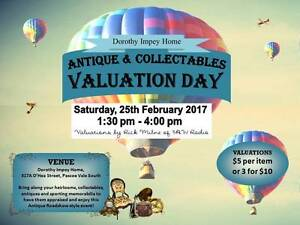 Dorothy Impey Home Antiques & Collectables Valuation Day Pascoe Vale Moreland Area Preview