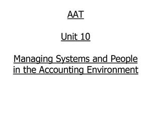 AAT ICAS Unit 10 Fully Mapped, Completed Project & Suggested Report Format