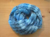 Shawl in blue homemade £10.00