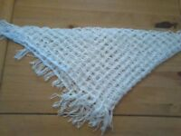Scarf in white homemade £15.00
