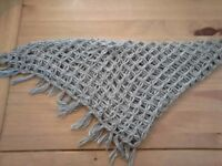 Scarf in grey homemade £15.00