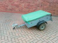 Trailer suitable for tents and camping gear
