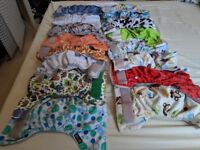 16 Reuseable nappies (Mainly Little Bloom)