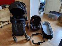 Graco Symbio travel system with car seat and adapter