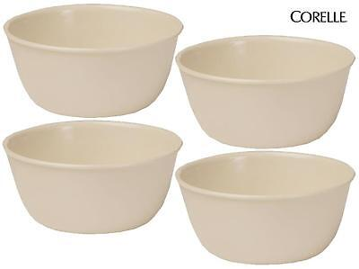 "4 Corelle SANDSTONE 28-oz SOUP CEREAL BOWLS Neutral Beige Tan 6 1/4"" x 3""  *NEW"