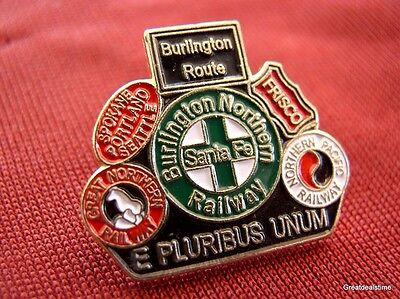 Burlington Northern Railway Merger Rr Railroad Train Logo Emblem Hat Lapel Pin