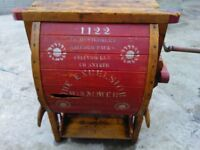 vintage antique wooden seed fanning mill thresher ornamented