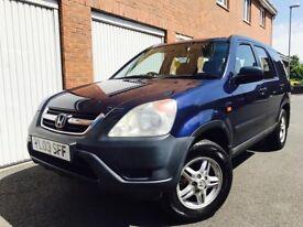 2003 03 Honda CRV 2.0 Litre I VTEC SE* Manual* Petrol* 4 Wheel Drive* Estate* Blue* Not Xtrail X3 Q5