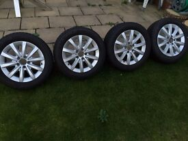 Alloy Wheels Mersedes Benz A Class 205/55/R16 Like NEW and New tyres