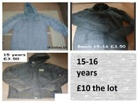 boys coats 15 years + prices on pictures collection from didcot from a smoke and pet free home
