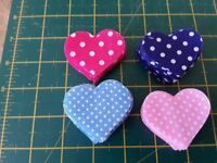 """200 spotty fabric hearts 2x2"""" pinks & blues for crafts £5 includes free postage"""