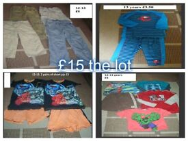 boys clothes 12-13 years -£15 the lot or prices on pictures