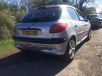 Peugeot 206 1400cc engine, cheap to run, tax and insure, Long mot (Jan 2018)