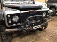 Land Rover Defender Winch Bumper and Winch