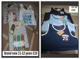 boys vest brand new with tags 11-12 years £10 each bundle or £18 for both