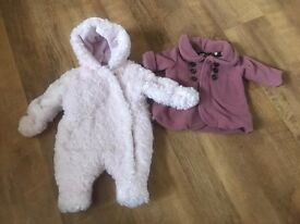 Large baby girls clothes bundle, sizes newborn and 0-3 months