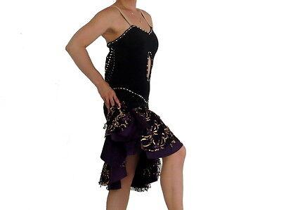 LATIN RHYTHM BALLROOM COSTUME: Sophisticated Black Latin - Ballroom Costumes