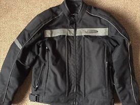 Harley Davidson FXRG textile motorbike Jacket. Size Large.