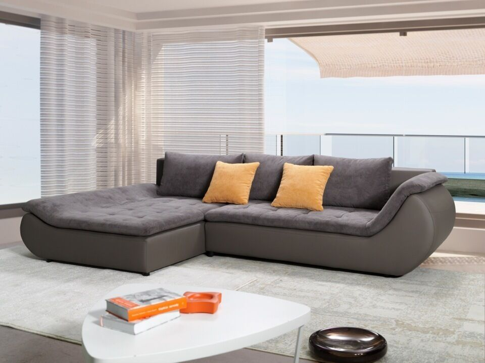 ecksofa prato couch mit bettfunktion schlafbett wohnlandschaft garnitur xxl grau eur 699 00. Black Bedroom Furniture Sets. Home Design Ideas