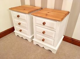 Newly Refurbished Solid Pine Bedside Tables With Dovetail Joints***£109***FREE DELIVERY