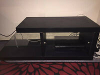 3 shelved Black TV stand