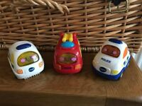 VTech Toot Toot Drivers emergency vehicle set - ambulance, fire engine and police car
