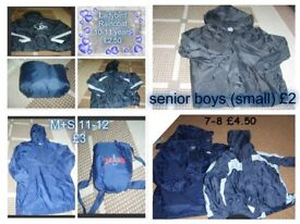 boys raincoats 7-8 years 10-11 years and 11-12 years prices on pictures