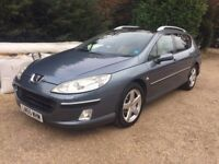 Peugeot 407 2.0 HDI EXECUTIVE FULLY LOADED SAT NAV, GLASS ROOF, 100k FSH **CHEAP**