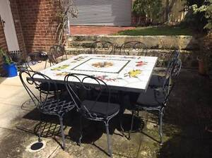 Outdoor table with 8 chairs West Leederville Cambridge Area Preview