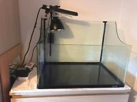 Exo-Terra Turtle/Large Fish Tank with required Lights, Heater, Filter & 2 different Basking Rocks