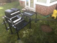Rive D36 seat box with winder trays, Matrix 3D side tray, Preston 360 feeder arm & more