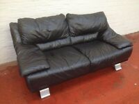 REAL LEATHER ITALIAN 2X2 BLACK COUCHES FORSALE VGC FROM PET AND SMOKE FREE HOUSE COLLECTION ONLY