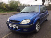 Citroen Saxo 1.4 furio 2002 long mot alloy wheels and cd player - low cost road tax cheap to insure