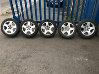 """**5 x 16"""" Audi A4 Alloy Wheels With Good Tyres - 5x112 - Not S4 A4 A3 A6 S6**"""