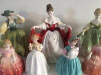 royal doulton figures x 7 lovley condition