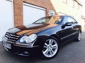 2007 07 Mercedes Benz CLK Coupe 2.2 CDI Auto LOW MILES 75k FSH+LTHR not 320d 325 m sport 1 series
