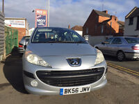 !!! Peugeot 207 1.6 HDi DIESEL ! 5 DOOR ! PANORAMIC ROOF ! 6 MONTH FREE WARRANTY ! LOW MILEAGE !!!