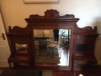 Large Mahogany Antique Mirror. Beautiful Condition. £200 or nearest serious offer.