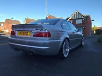 Stunning 2003 Facelift BMW E46 M3 SMG FSH Red Leather Low Mileage Sat Nav DVD Not Mercedes Discovery