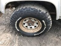 Land Rover Defender BF Goodrich Tyres and Wheels