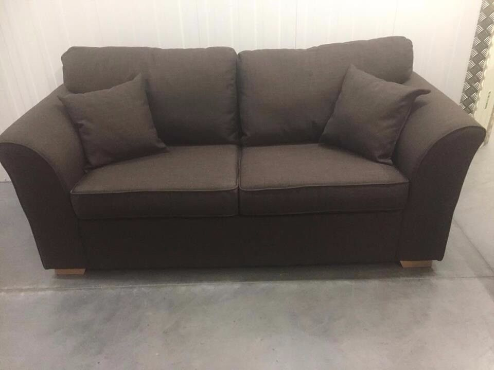 Amelia metal action sofa bed brown new RRP £399