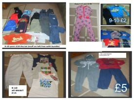 bundle of boys clothes 9-10 years -prices on pictures or £40 the lot (with coat)