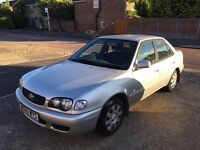 """Priced to Sell"" Toyota Corolla 1.3 petrol 4 door saloon, manual, silver, new tyres, nice drive"