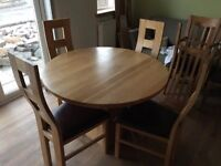 Solid Oak Table and Solid Oak Chairs