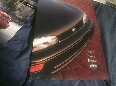 1996 Chevroelt GEO Prizm by Toyota Original Color Brochure Prospekt