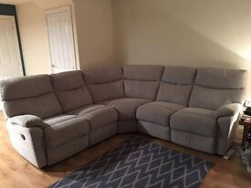 Harveys Bailey Corner Reclining Sofa, only 6 months old!