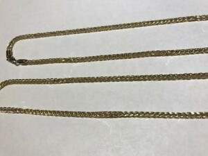"""#K1424 30.5"""" 10K GOLD FRANCO LINK NECKLACE WITH LOBSTER CLASP. COME CHECK IT OUT AND SEE OTHERS."""
