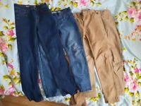 Boys bundle trousers jeans 8- 10