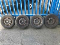 """**4 x 14"""" Rover 25 MG ZR Steel Wheels With Tyres - 4x100**"""