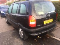 2002 VAUXHALL ZAFIRA 1.8 AUGUST MOT 7 SEATER